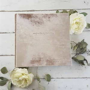 photo guest book with double-faced satin ribbon Lush Velvet Album The Artisan