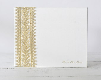 Royal Gold Lace Photo Book, Wedding Photo Album - Custom Book by Claire Magnolia