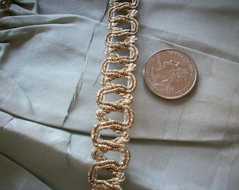 wholesale and retail vintage gold metallic trim, yardage vintage supplies store stock
