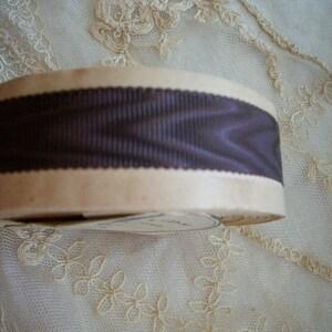 Black silk antique french moire taffeta 5 width