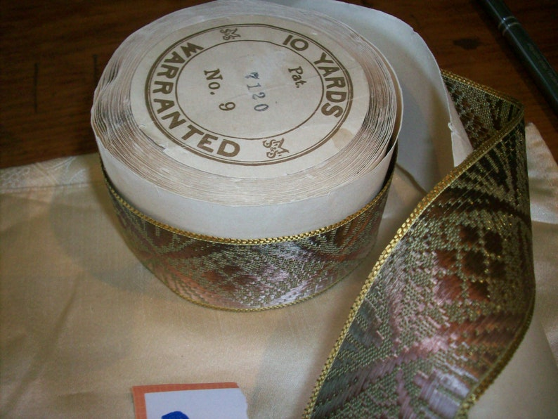 Antique metal novelty ribbon 1910s to 1920s