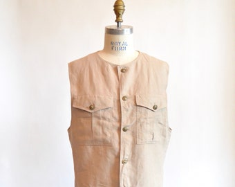 Vintage 1980s ISTANTE by versace linen vest