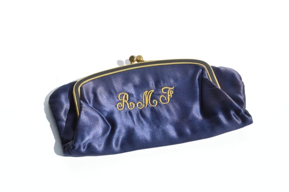 Vintage 40s SATIN clutch bag