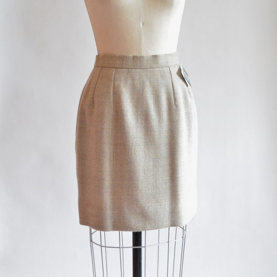 Vintage 1980s WOOL mini skirt