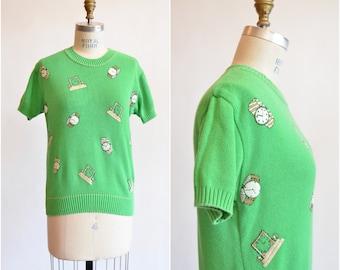 Vintage 1980s NOVELTY knit top