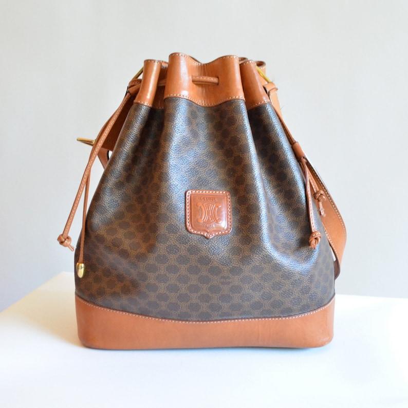 d7351c9a8ca6 SALE   Vintage CELINE leather bucket bag