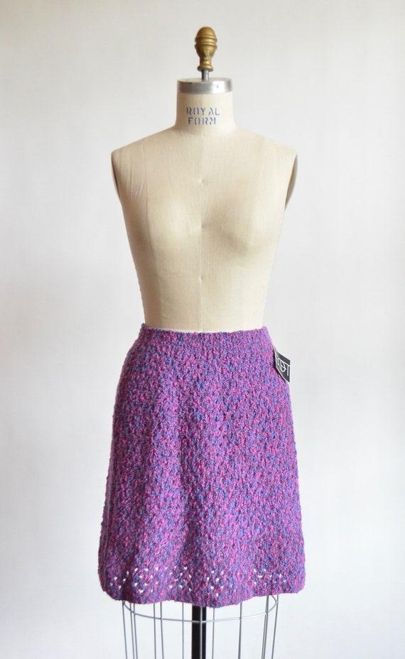 Vintage 1960s KNIT mini skirt