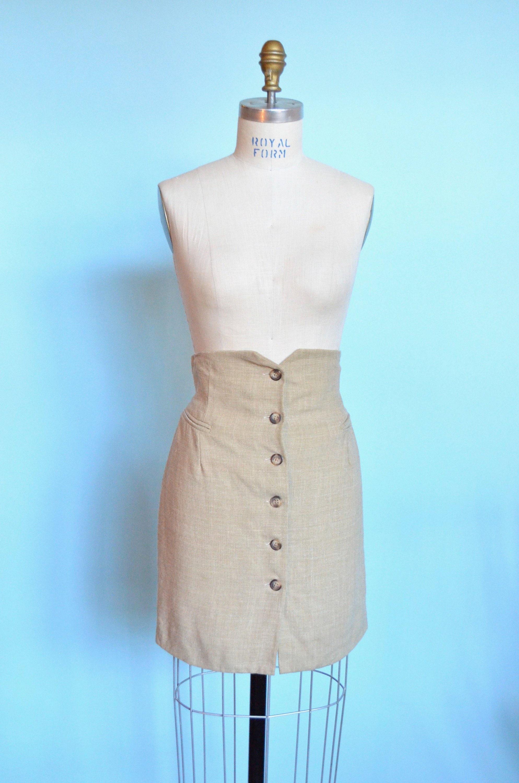 c94fe9c1672 Vintage made in ITALY linen skirt