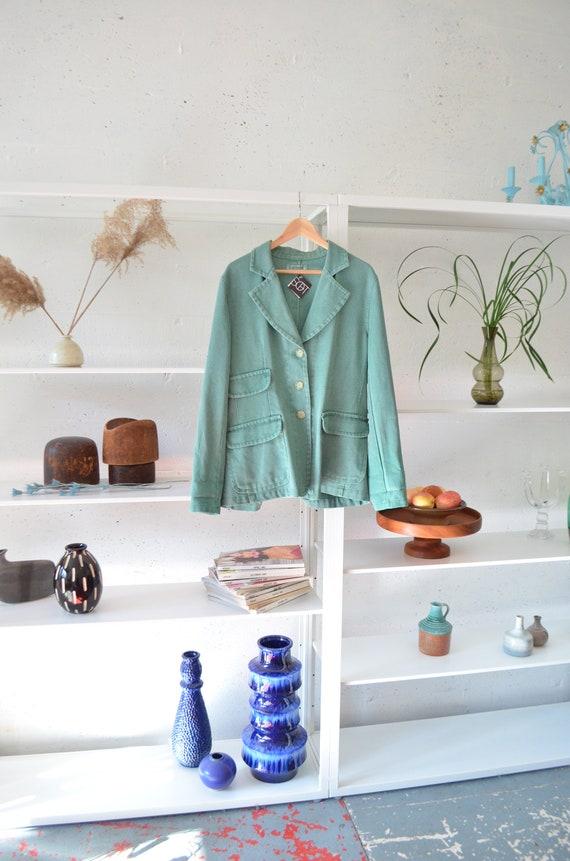 Vintage CACHAREL cotton blend blazer / M