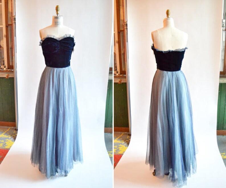 Vintage 1940s silk velvet \u0026 crinoline