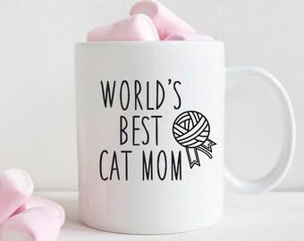 Best Friend Gift Funny Coffee Mug Girlfriend Gift Birthday Gift for Best Friend Birthday Gift for Girlfriend Worlds Best Cat Mom