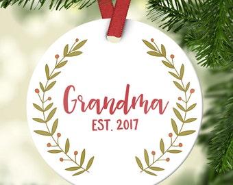 grandma gift pregnancy announcement grandma christmas ornament new grandma gift grandma ornament grandma pregnancy reveal grandma green year