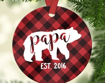 New Dad Ornament New Dad Christmas Gift Husband Gift New Dad Gift for Husband Dad Christmas Ornament Custom Christmas Tree Decorations
