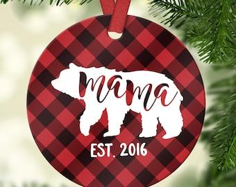 new mom gift baby shower gift mom ornament christmas gifts for mom christmas ornament personalized mama bear ornament mom christmas gift fun