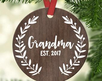 New Grandma Gift Christmas Gift for Grandma Pregnancy Announcement Grandma Christmas Gift for Grandma Pregnancy Reveal Grandma Ornament Cute