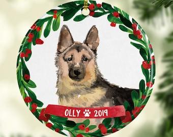 Dog Ornament Personalized German Shepard Christmas Ornament 70019