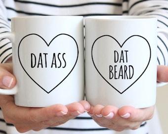 Anniversary Gifts for Men Anniversary Gifts for Boyfriend Gift Couples Gift Set Boyfriend Birthday Gift for Boyfriend Dat Beard Coffee Mug