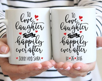 Custom Wedding Gift for Bride and Groom Anniversary Gift for Wife Anniversay Gift for Husband Personalized Gift for Couple Mug Set Cute Mug