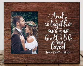 Wedding Gift Ideas Personalized Wedding Gifts For Couple Wedding Picture Frame Wedding Shower Gift for Bride From Best Friend Date 8034  sc 1 st  Etsy & Wedding gift ideas | Etsy