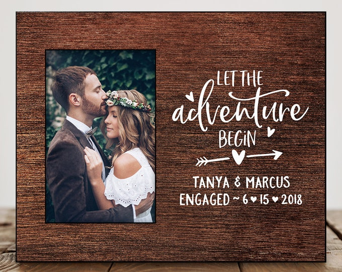 Engagement Gifts for Couple Wedding Gift Ideas for Bride Engagement Frame Wedding Picture Frame Custom 8171