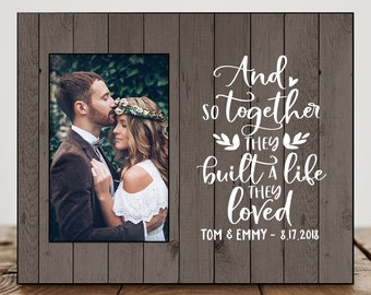 personalized wedding gifts for couple wedding shower gift for best friend anniversary gifts for wife wedding photo frame quote