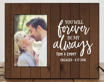 Personalized Engagement Gifts for Couple Picture Frame 8279