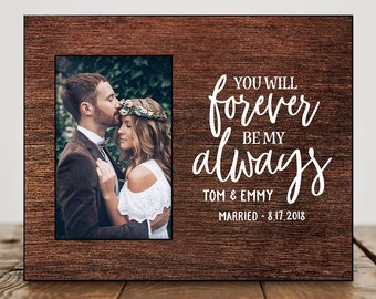 Wedding Gifts For Couple Personalized Anniversary Gift for Husband Bridal Shower Gift Wedding Gift Ideas Wedding Picture Frame Quote 8396