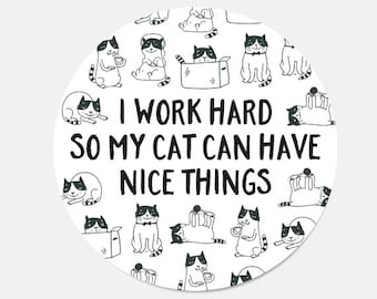 Mouse Pad Cat Mousepad Birthday Gift For Her Girlfriend Lover New Job Employee Black