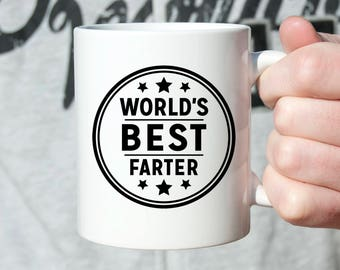 Fathers Day Gift From Son Birthday For Dad Daughter Worlds Best Farter Silly Coffee Mug