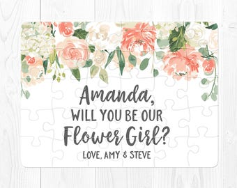 Flower Girl Proposal Puzzle Flower Girl Puzzle Will You Be My Flower Girl Puzzle Proposal Will You Be Our Flower Girl Puzzle Peach Cream