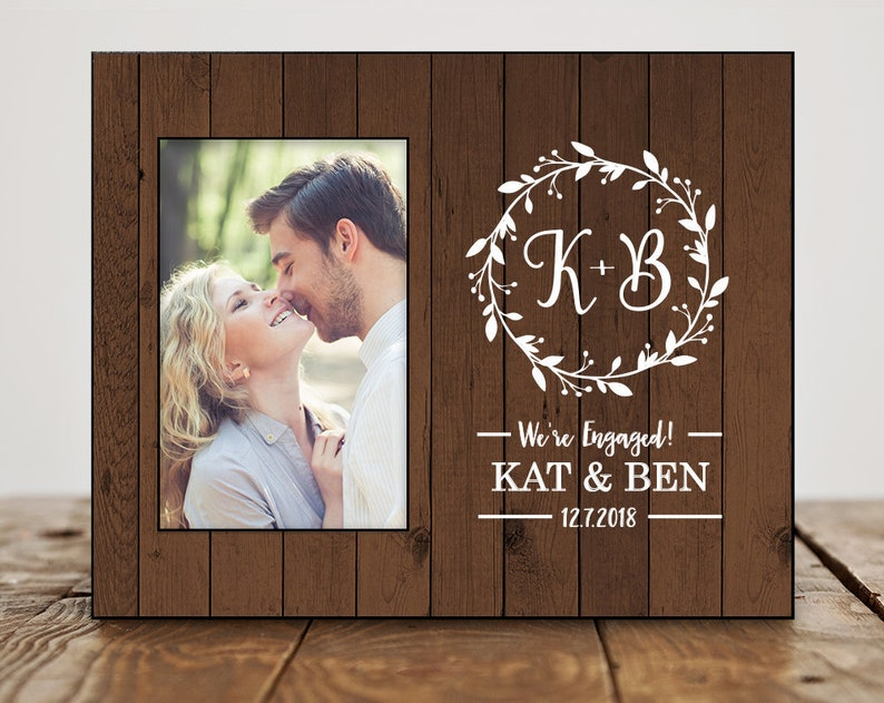 Engagement Gift for Best Friend Frame Monogram 8364 Date Engagement Party Gifts for Couple Personalized Engagement Gifts for Couple
