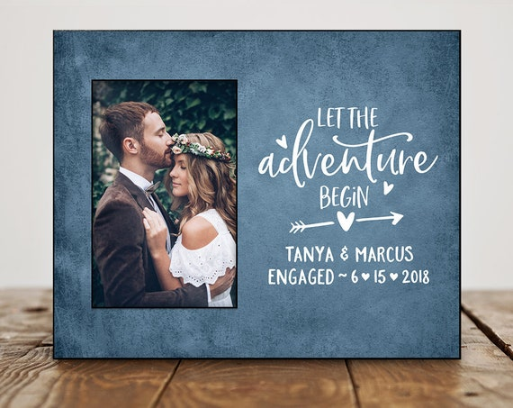 Engagement Picture Frame Personalized Engagement Gifts for Couple Engagement Party Gifts For Couple Custom Quote 8113