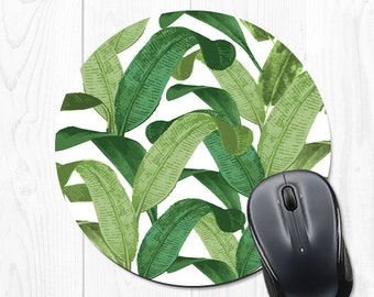 Banana Leaf Mouse Pad Coworker Gift Office Supplies Gift Mousepad Banana Leaf Office Decor Office Desk Accessories Cubicle Decor Fun 9029