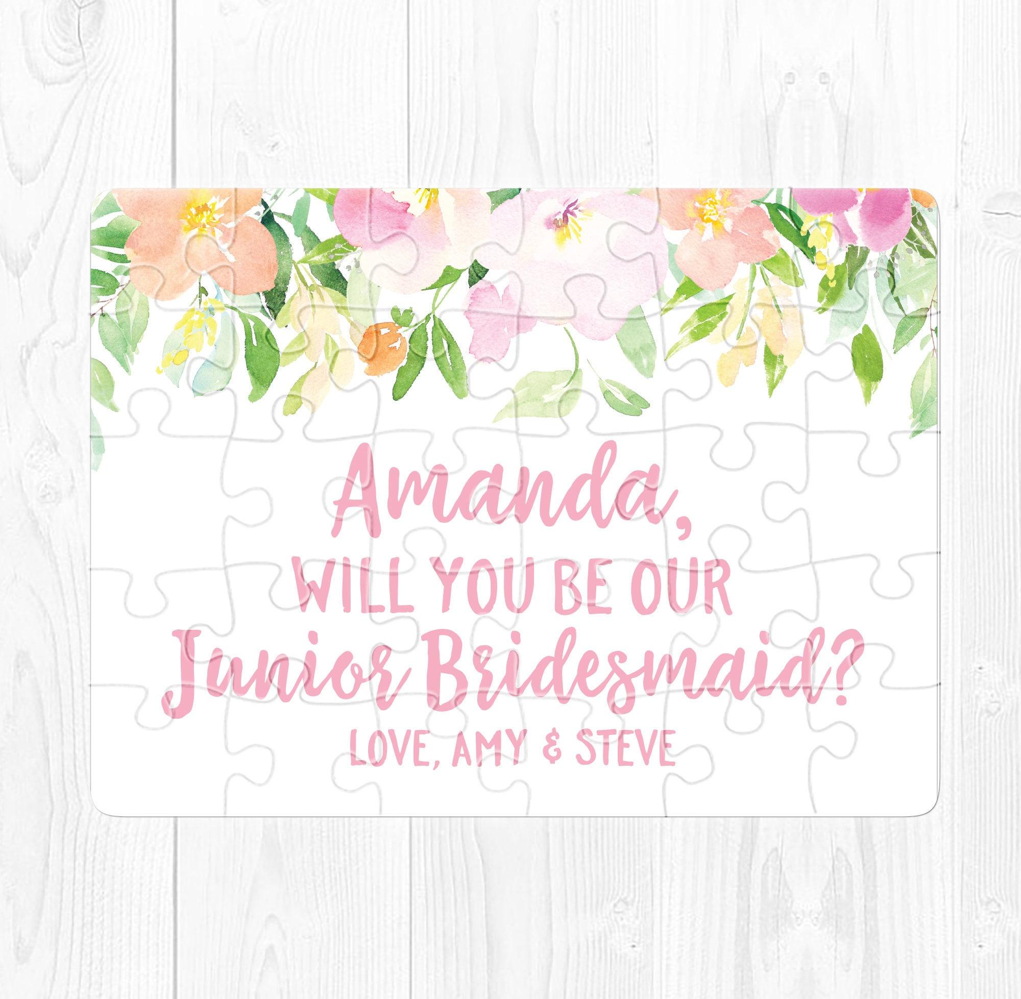 Will You Be My Junior Bridesmaid Puzzle Proposal Junior