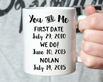 Personalized Anniversary Gifts for Men First Anniversary Gift for Him Anniversary Gift for Her Anniversary Gift for Wife Coffee Mug Cute