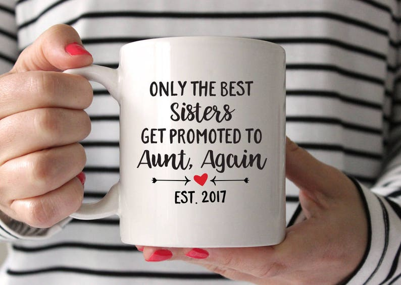 Pregnancy Reveal to Aunt Gift Aunt Again Mug New Aunt Gifts Pregnancy  Announcement for Aunt Coffee Mug Aunt Established Coffee Mug Year