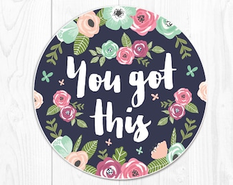 Mouse Pad Floral Mousepad Office Desk Accessories New Job Gift Office Decor You Got This 9293