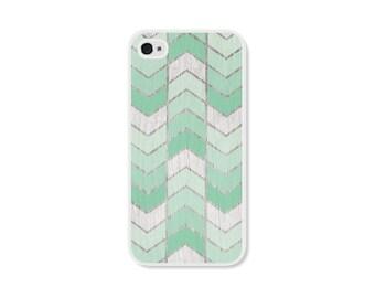 Mint Green Herringbone iPhone Case - iPhone 4 Case - Wood iPhone 4s Case - Ombre iPhone 5 Case - iPhone 5s Case - iPhone 5c Case