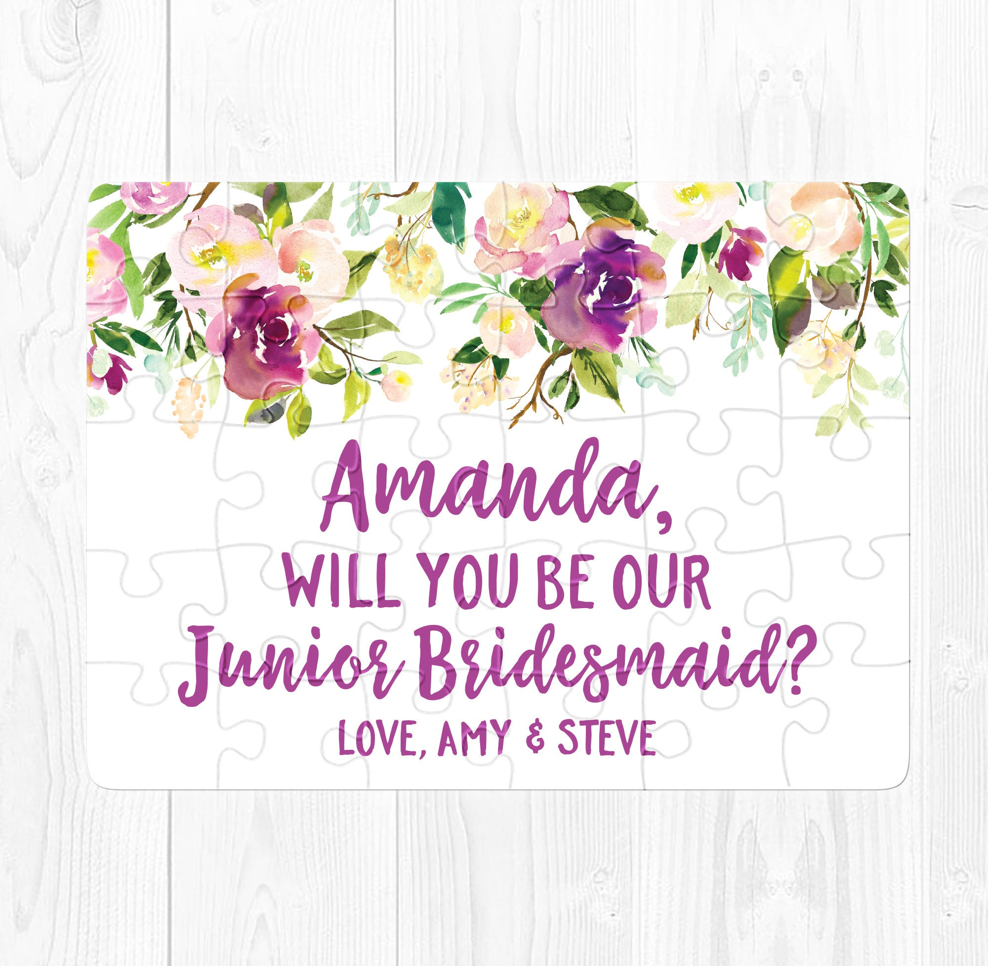Junior Bridesmaid Proposal Gift Will You Be My Junior