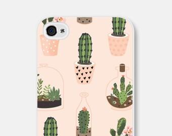 Cactus iPhone 7 Case iPhone 6 Case iPhone 6s Case Cactus iPhone 6s Plus Case iPhone SE Case iPhone 5 Case Samsung Galaxy S7 Case Pink Green
