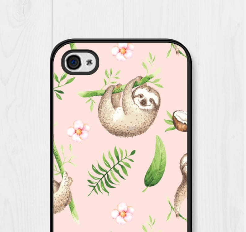 newest collection d2944 a0437 Sloth iPhone SE Case iPhone 8 Case Floral Samsung Galaxy S7 Case iPhone 7  Case Sloth iPhone 6 Case Samsung Galaxy S6 Case iPhone 5 Case Cute