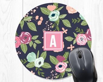 Mouse Pad Floral Office Supplies Mousepad Mouse Mat Office Decor Personalized Desk Accessories Coworker Gift Office Desk Accessories Cubicle