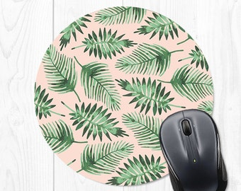 School Supplies Banana Leaf Mouse Pad Gift Mousepad Palm Leaf Mousepad Banana Leaves Mouse Pad Pink Mouse Pad Office Desk Accessories