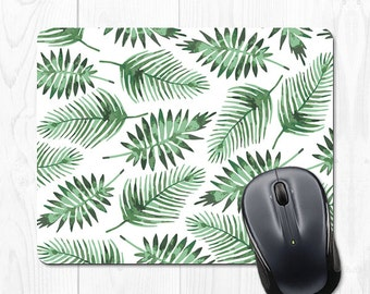 Mouse Pad Leaves Mousepad Cubicle Accessories Office Supplies Green Tropical Office Desk Accessories Office Decor Gifts for Coworker Cute
