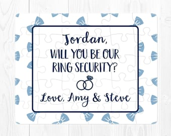Ring Bearer Puzzle Will You Be My Ring Bearer Puzzle Will You Be Our Ringbearer Proposal Puzzle Ring Security Puzzle Proposal Navy Blue Cute