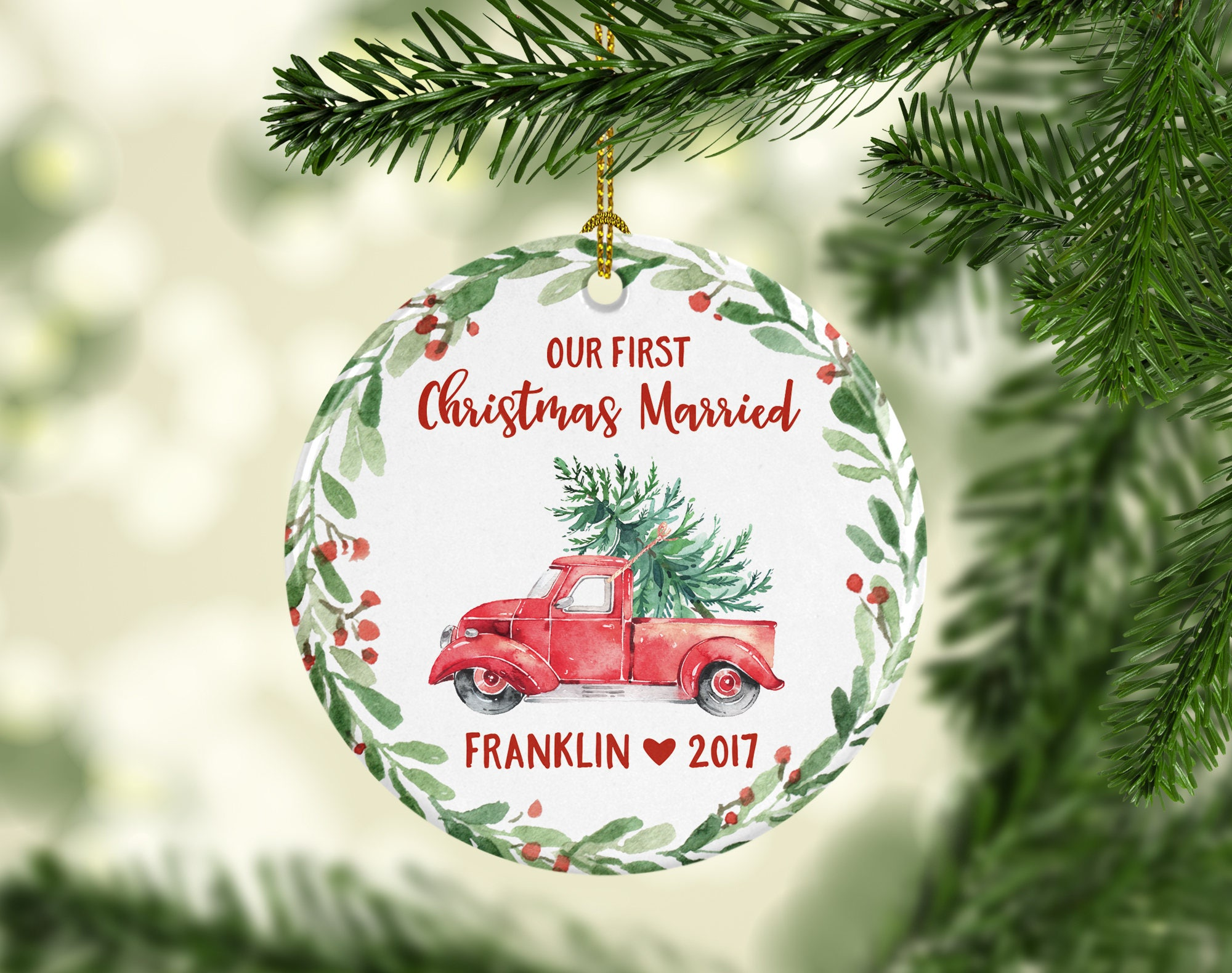 Hochzeit Geschenk Weihnachten Ornamente personalisierte Mr und | Etsy