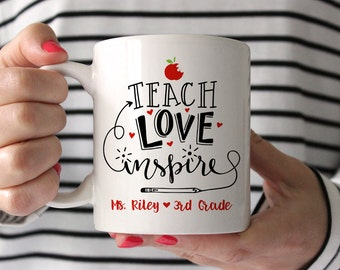 Teacher Gifts Teacher Christmas Gifts for Teacher Personalized Gift Kindergarten Teacher Gift Teacher Mug Preschool Teacher Gifts Cute Mug
