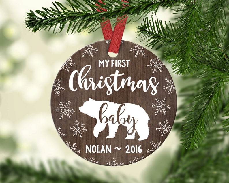 Christmas Decorations Personalized Ornament Baby Personalized Etsy