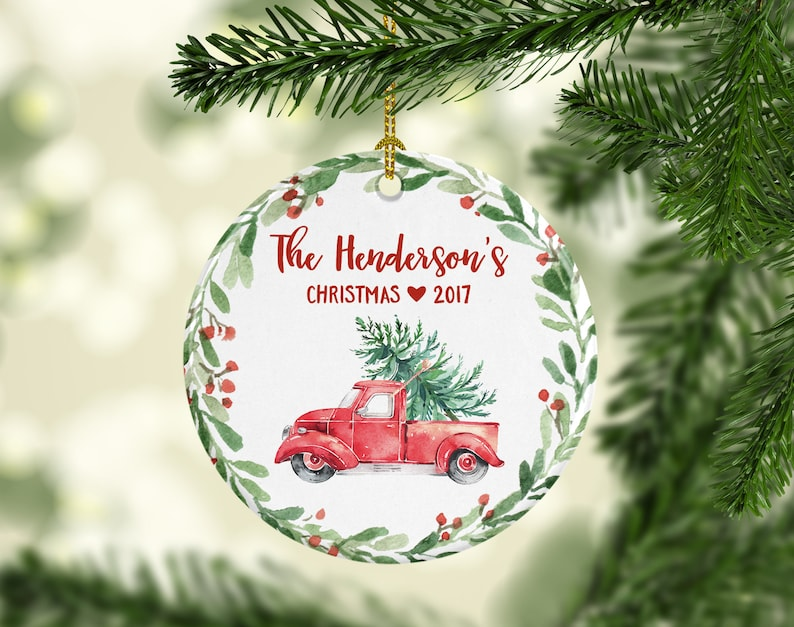 2017 Christmas Ornament Personalized Family Christmas Ornament Hostess Gift Housewarming Gift Christmas 2017 Ornament Year 7001