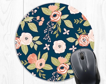 Floral Mouse Pad Mousepad Cubicle Decor Employee Gift Office Decor Coworker Gift Boss Gift Cute Pink Office Desk Accessories Desk Decor 9071